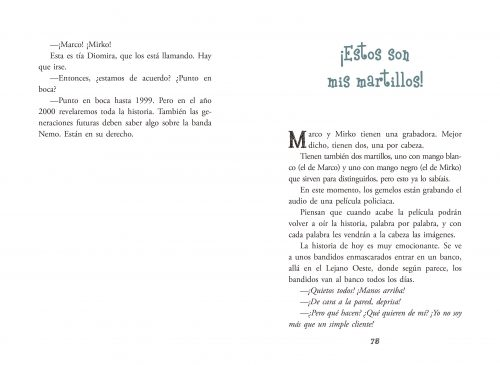 Páginas interiores de Aventuras de Marco y Mirko