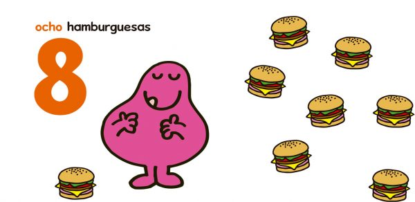 Páginas interiores Mi primer Mr. Men números