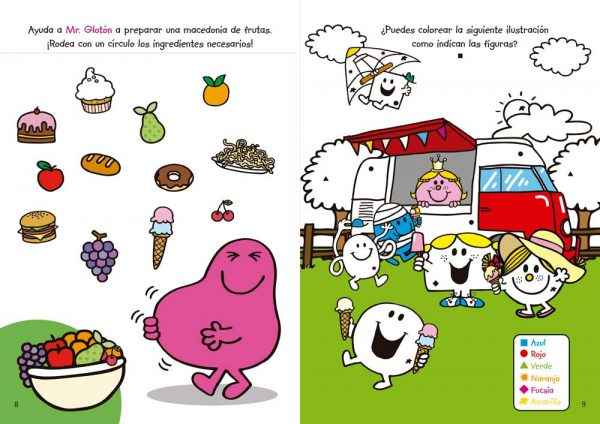 Interiores Mr. Men & Little Miss Actividades 1
