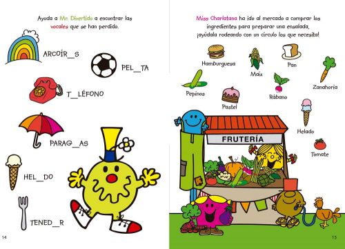Interiores Mr. Men & Little Miss Actividades 2