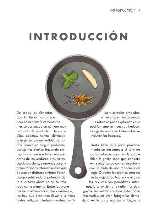 Interior Insecto en el plato