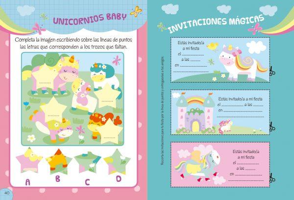 Interior Unicornios. Libro de actividades