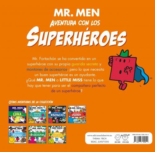 Mr. Men superhéroes contracubierta